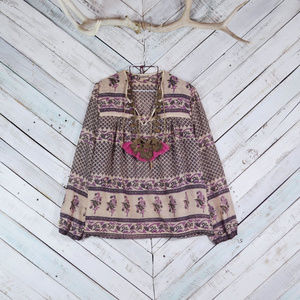 ☯️Vintage Sandstone Indian Blouse 70's☯️